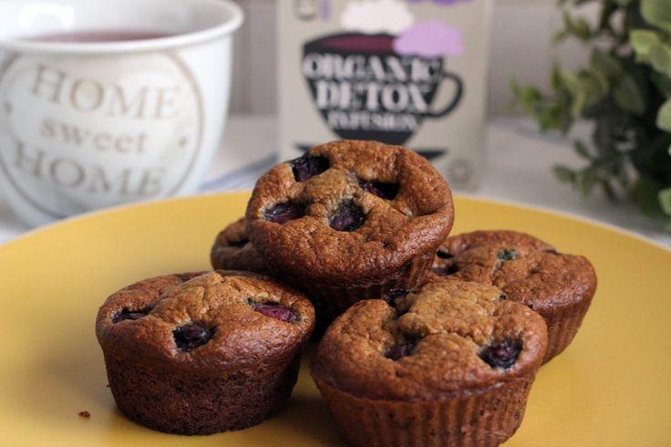 Muffins de Banana e Mirtilos para o vosso fim-de-semana.