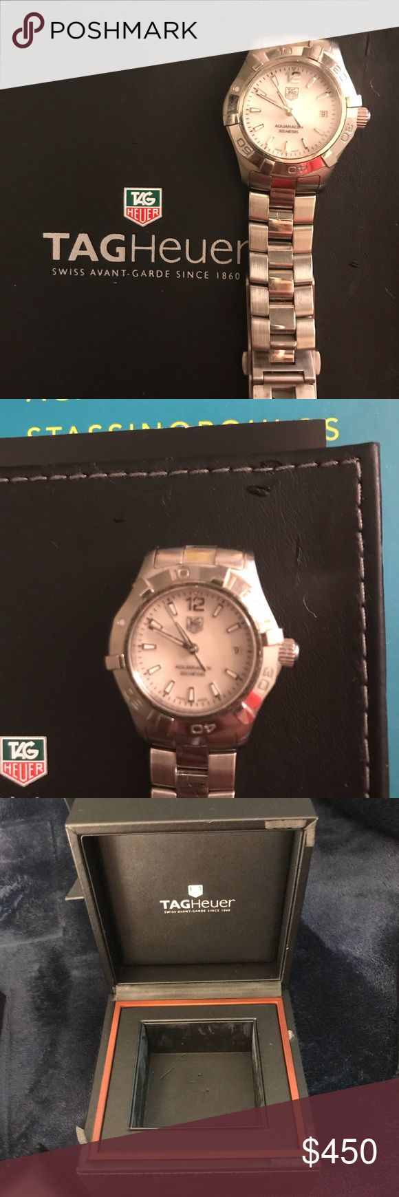 Authentic pearl face Tag Heuer ladies' watch Excellent condition pearl face Tag watch. Comes with box, case and all box contents Tag Heuer Accessories Watches