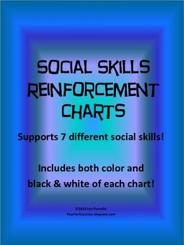 Special Education Social Skills Reinforcement Chart Pack - Lisa Parnello - TeachersPayTeachers.com