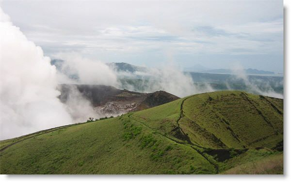 Masaya Volcano Nicaragua.  Currently active volcano, near managua.  Can drive to top.