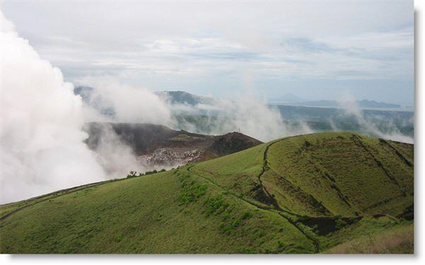 Masaya Volcano Nicaragua.  Currently active volcano, near managua.  Can drive to top.