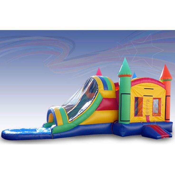 EZ Inflatables Rainbow Water Bounce House Combo - C110