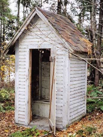 Old Outhouse I wanted to know how they lived before bathrooms here it is.