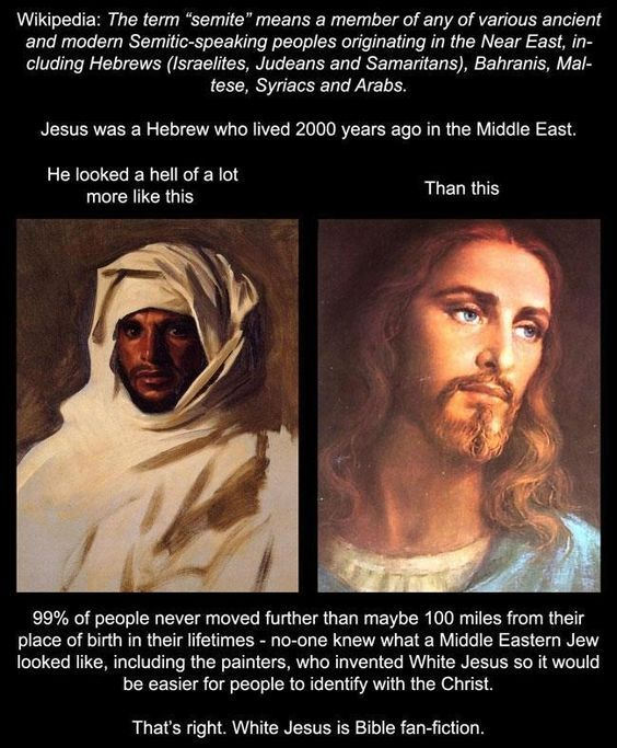 It does not matter what color the prophet Jesus was.