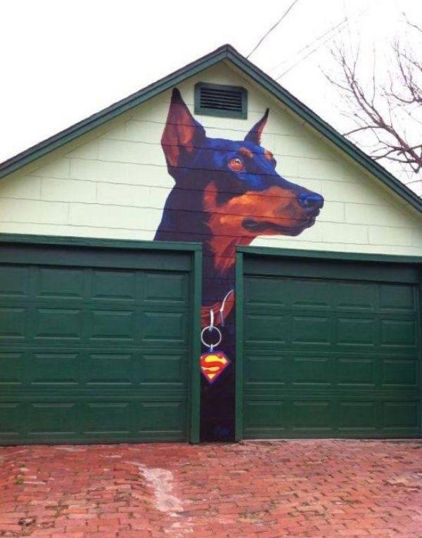 Прикольные рисунки на ворота гаража, дню пожарника своими