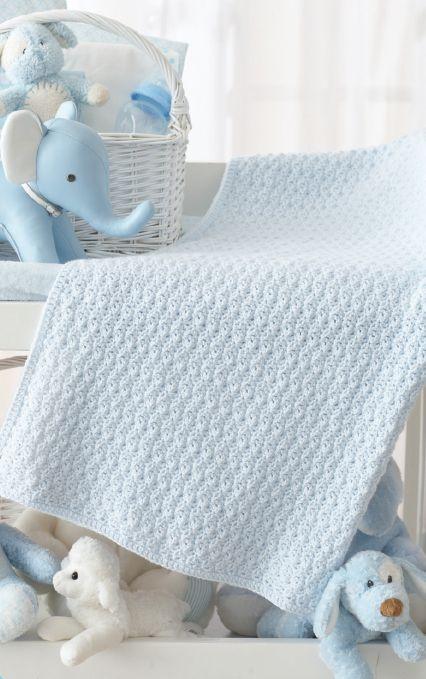 Textured Crochet Baby Blanket - Gorgeous Free Pattern