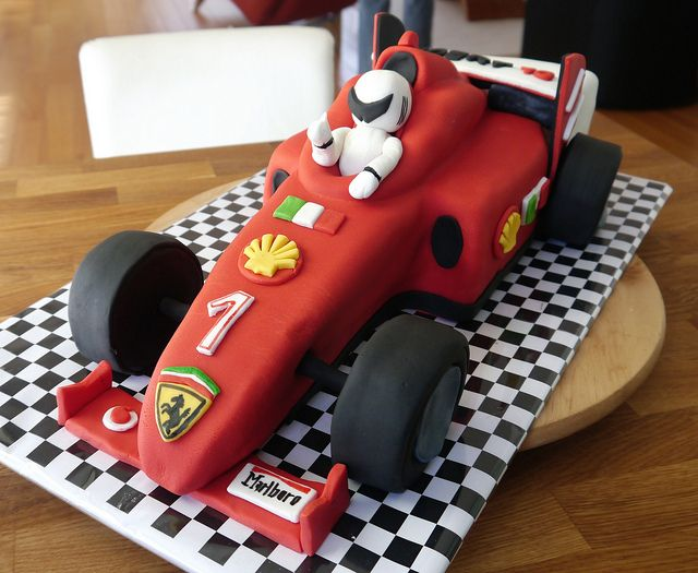 Ferrari race car cake