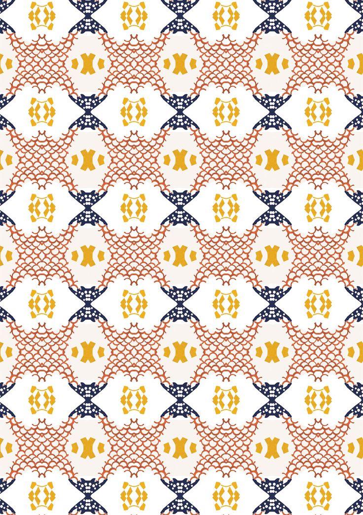 Natalia Segerman original illustrations - Lion Pattern