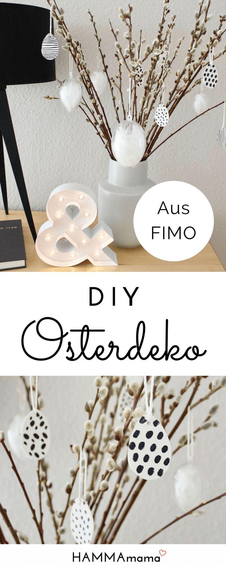 DIY-Ostereier zum Aufhängen ° Skandinavische Deko für Ostern selber machen