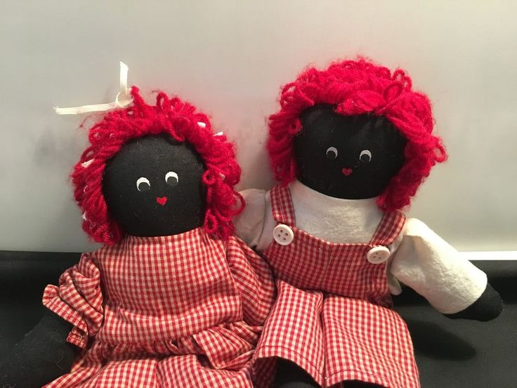Raggedy Doll Sisters – 2 pcs. Dolls Set (D-3) in Dolls, Bears, Dolls, Cloth   eBay!
