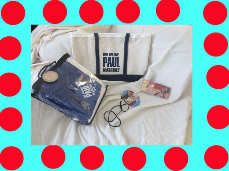 PAUL McCARTNEY One On One Tour 2016 VIP Merchandise Swag Blanket, Bag, Lanyard