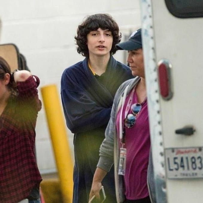 Stranger Things Season 3 Finn Wolfhard Behind the Scenes On the Set