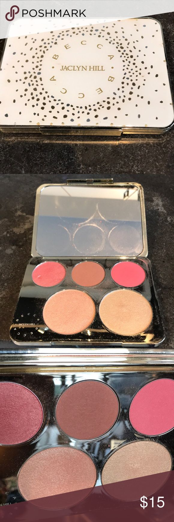 Becca Jacklyn hill palette Barely used Becca x Jaclyn Hill highlighter palette BECCA Makeup Luminizer