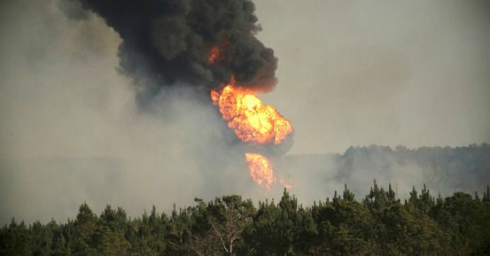 A major southern gas pipeline exploded Monday afternoon in Alabama, killing one worker and injuring five others.