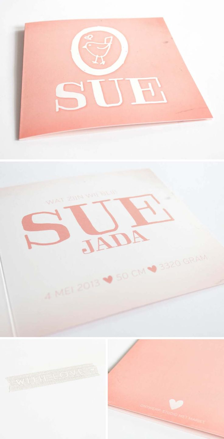 New Born Baby Card Sue //