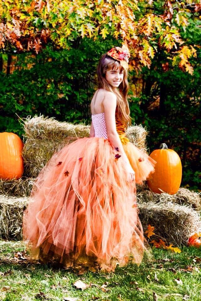 Fall tutu dress i made for my oldest daughter  love all the colors and leafs:)
