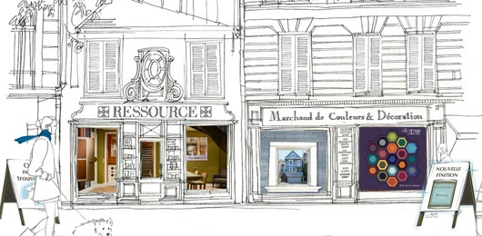 Ressource. A French company who I have been advising on paint colour for nearly 15 years. Very stylish and in many ways ahead of most English companies - http://www.ressource-peintures.com/