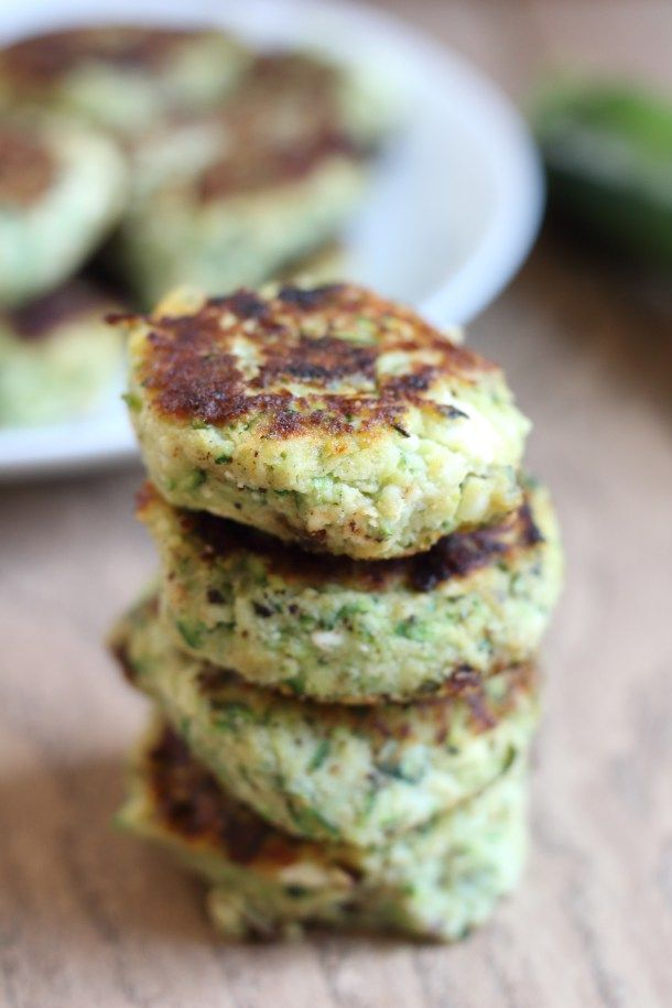 Italian Zucchini Fritters Audras Appetite Vegetarian
