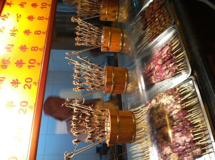 Rico rico. Mercado nocturno de Pekín.