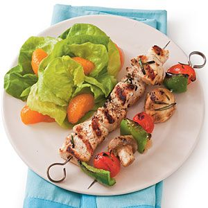 Quick-Fixes from the Grill | Rosemary Chicken Kabobs | SouthernLiving.com: Southern Living, Myrecipes Com, Chicken Kabob Recipes, Chicken Kabobs Recipes, Rosemary Chicken, Quick Fix Chicken, Grilled Recipes, Red Wines, Chicken Suppers