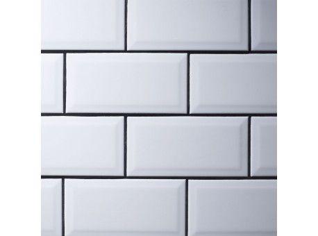 Metro White Wall Tile 10x20cm