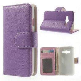 Galaxy Ace 4 violetti puhelinlompakko
