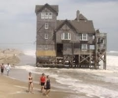 """""""Nights in Rodanthe"""" house, the movie with Richard Gere & Diane Lane.  Fortunately it has been moved to higher ground and saved from the sea."""