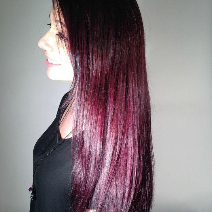 Results from Vidal Sassoon London Lilac. Starting natural hair color was medium-dark brown.