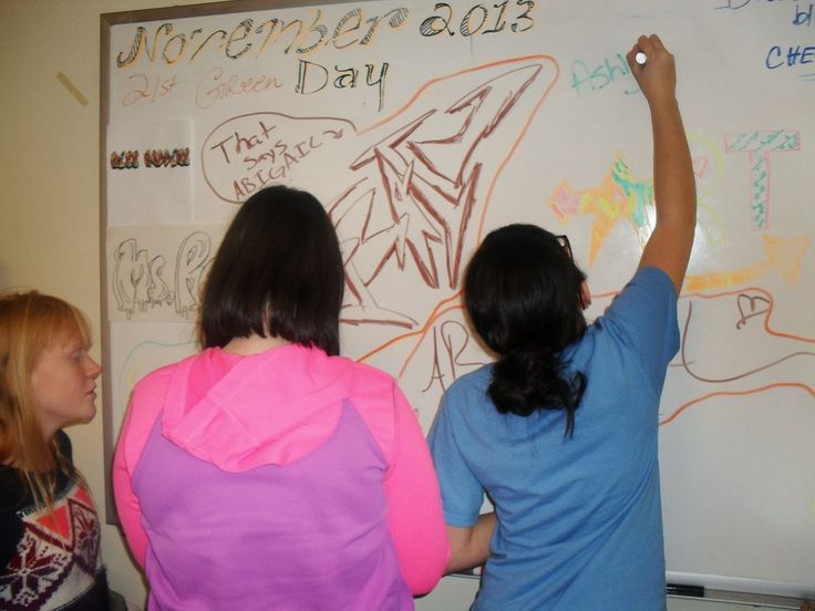The 8th graders at HMS have been learning how art is form of communication…