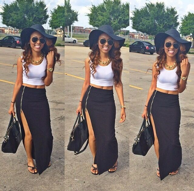 30 Days of Summer: Outfit Idea 15 - Black Long Skirt