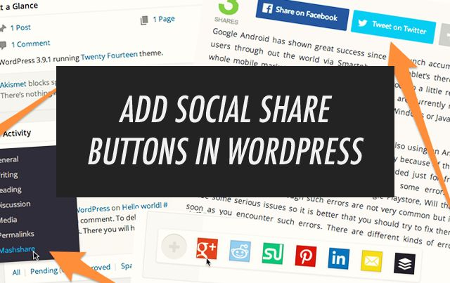 Ever wonder how to install awesome social sharing buttons on your Wordpress blog? Here's how!
