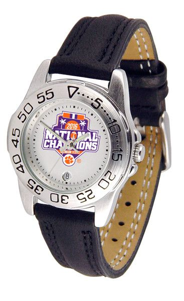 Clemson Football National Champions 2016 Ladies Sport Watch With Leather Band