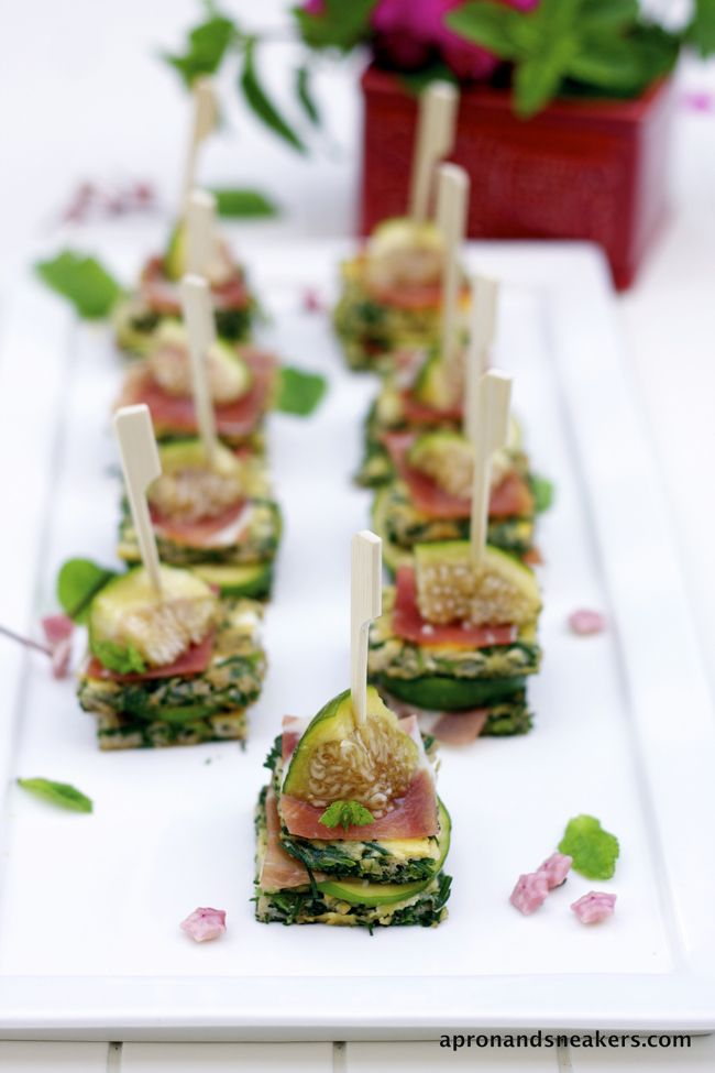 Apron and Sneakers - Cooking & Traveling in Italy and Beyond: Agretti Frittata with Prosciutto & Fig Nibbles