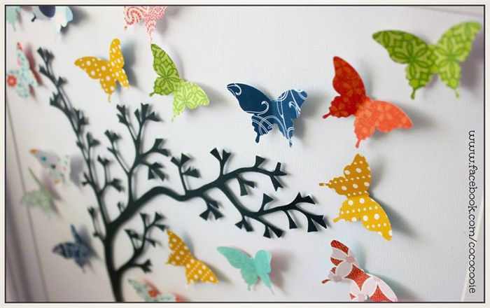 Personalised 3D Butterfly Tree FRAMED  CocoCooie | madeit