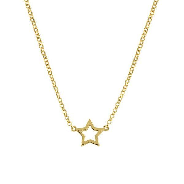 Gargantilla Plata Estrella Dorada