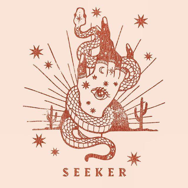 PONY GOLD / ILLUSTRATION / HAND / SNAKE / DESERT / SEEKER / SUNRISE