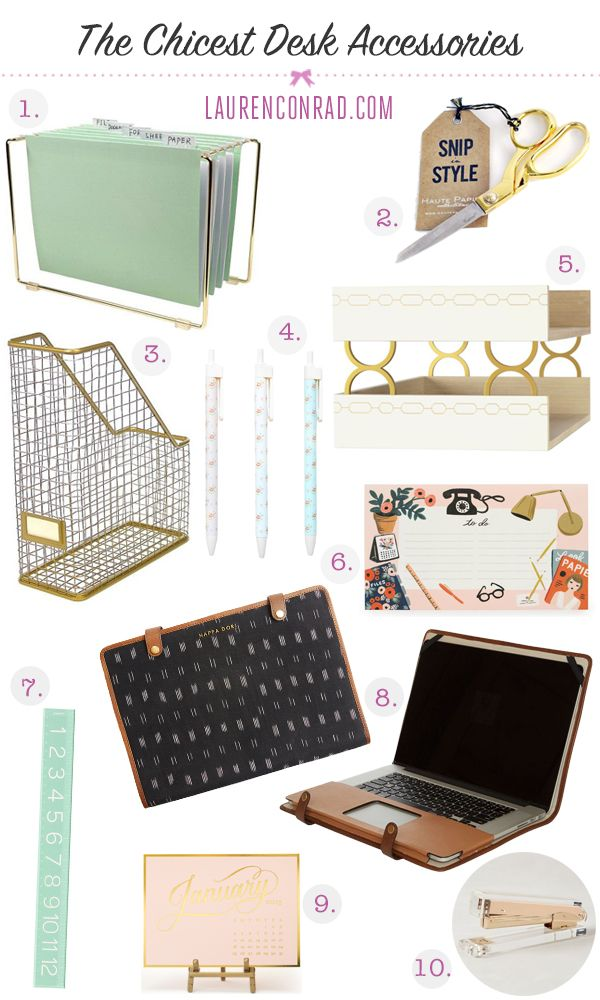 Tuesday Ten The Chicest Desk Decor Decorate Desk Office Decor