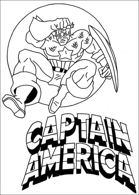 superhero coloring pages captain america - photo#28
