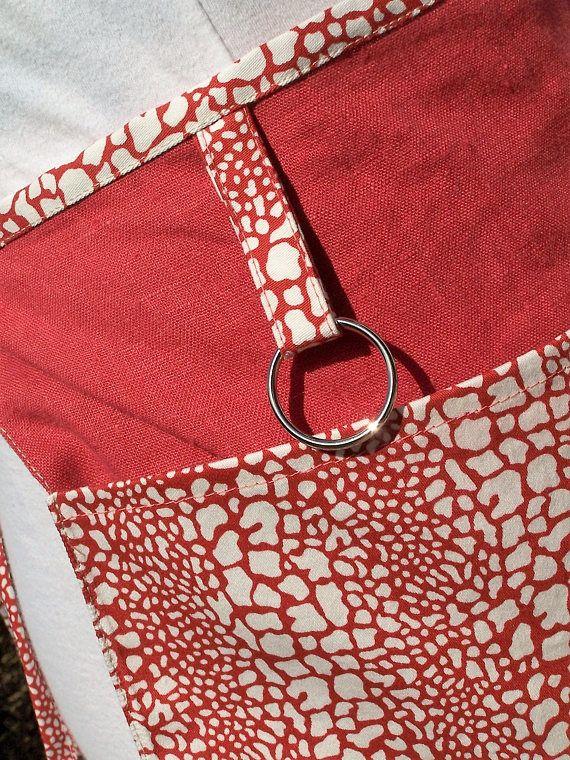 Linen Cafe Apron 3 Pocket Half apron Lined Pocket apron