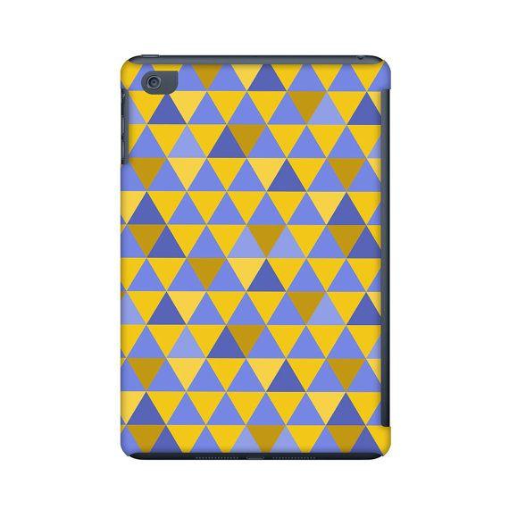 Ipad mini case, geometric ipad mini case, colorful triangle ipad mini case,  triangles case, geometric pattern, abstract art for your tablet