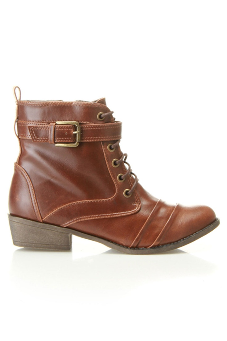 Cognac Booties by Blossom $30