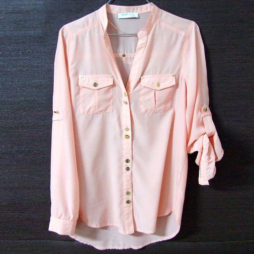 Camisa rosa salmón - Chicfy