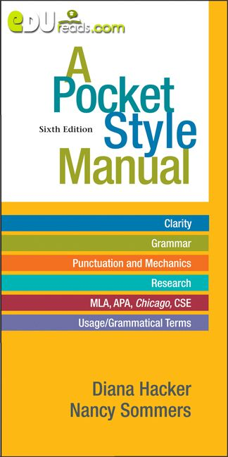 A POCKET STYLE MANUAL 6TH EDITION - As a writer, you can turn to this Pocket…