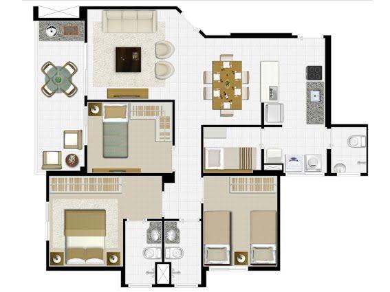 199 best images about plantas e fachadas on pinterest 2 for 90m2 apartment plans