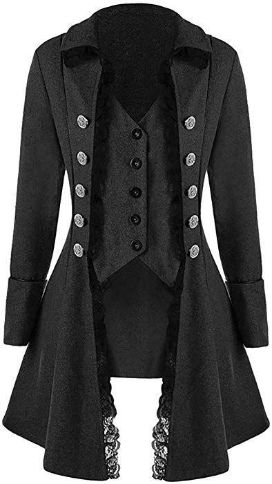 0ccef57def9e Amazon.com: Goddessvan Mens Gothic Tailcoat Jacket Black Steampunk  Victorian Coat Uniform: Clothing