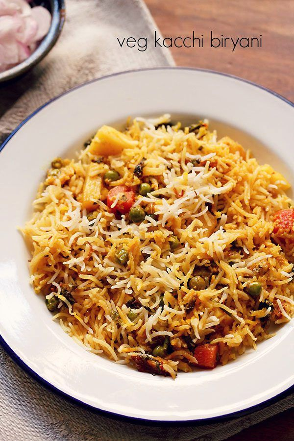 hyderabadi veg biryani recipe with step by step photos - a relatively easy recipe of kacchi hyderabadi veg biryani. the kacchi biryani is so called since the main ingredient like the chicken or mutton is not pre cooked first.