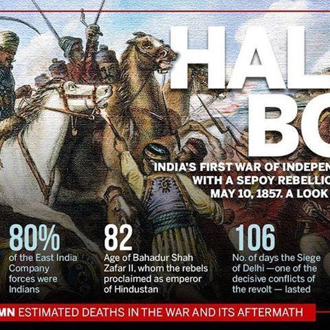 Today, we mark 160 years of #SepoyMutiny that sparked India's first war of Independence. . . . . . #India #independence #Sepoy #Meerut #Numbers #Data #QueenVictoria #War #History #OnThisDay #Creative #infographic #IndianHistory #WednesdayWisdom #FreedomStruggle  #StruggleForFreedom #LordDalhousie #rebellion #FreedomFighters #Revoltof1857 #1857 #TatyaTope #RaniLakshmibai #MangalPandey