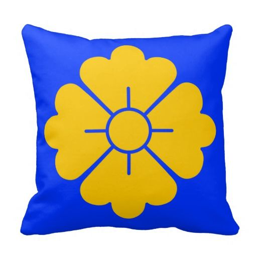 Flower shape design pillows - yellow - customizable: you can also change the background to any color you like as well as scale/position the design. For your convenience, the design is in both the front and the back, but if you don't want it in the back, you can always remove it.