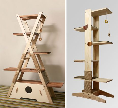 Modern cat tower from Korea by Trillo.