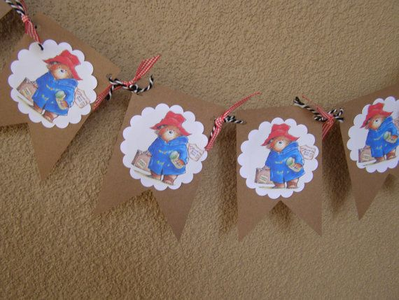 Paddington Bear Banner Children Garland By MesBellesSoeurs